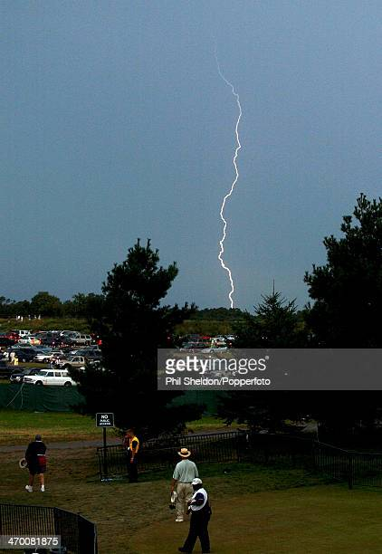 A Lightning strike during the US PGA Championship held at the Hazeltine National Golf Club Minnesota 16th August 2002