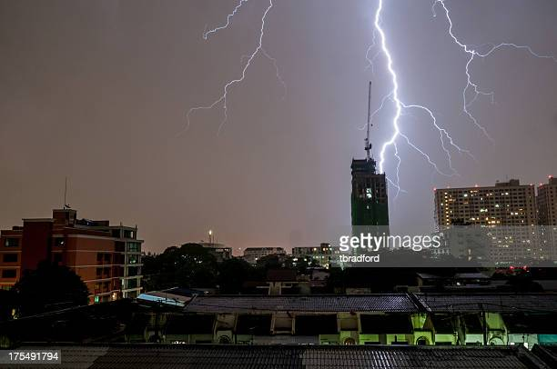 Lightning Strike In Bangkok, Thailand