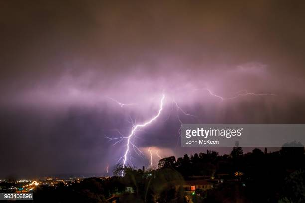 lightning strike - blackout picture stock pictures, royalty-free photos & images