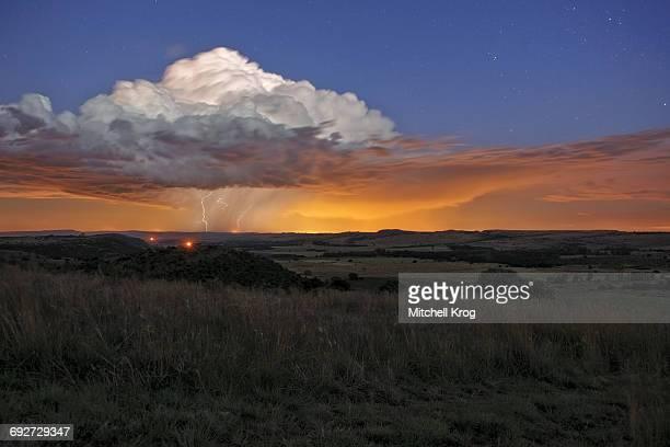 Lightning Thunderstorm Supercell, Magaliesburg, Gauteng Province, South Africa