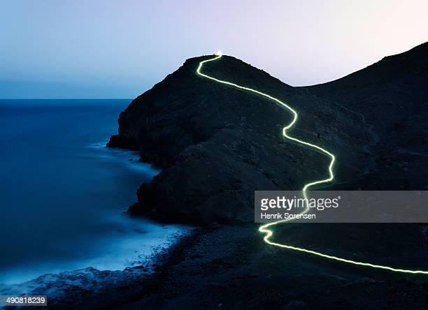 lightning trail - light trail stock pictures, royalty-free photos & images