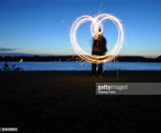Lightpainting heart
