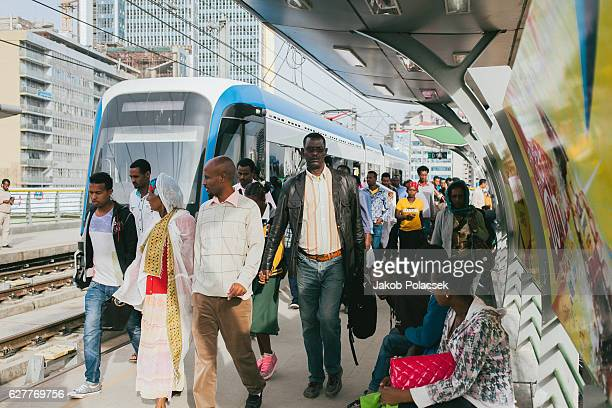 Lightrail transportation in Addis Ababa