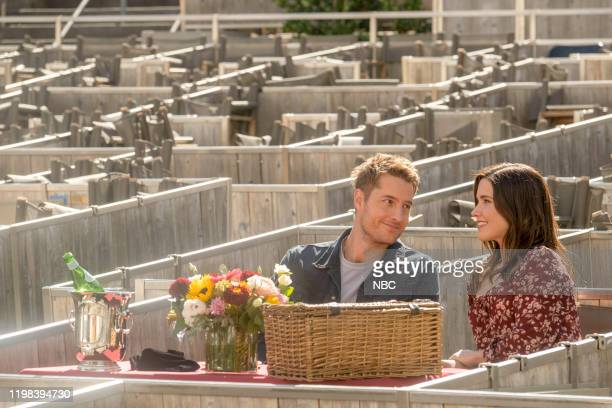 "Lights and Shadows"" Episode 410 -- Pictured: Justin Hartley as Kevin, Sophia Bush as Lizzie --"
