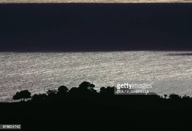 Lights and shadows over the Adriatic Sea Marche Italy
