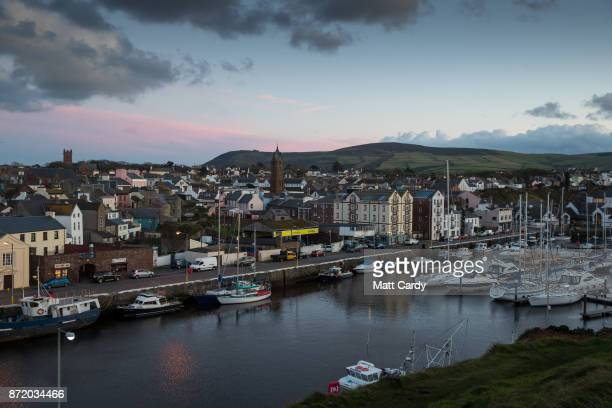 Lights are turned on as night falls on November 7 2017 in Peel Isle of Man The Isle of Man is a lowtax British Crown Dependency with a population of...