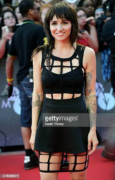 Lights arrives at the 2015 MuchMusic Video Awards at MuchMusic HQ on June 21 2015 in Toronto Canada