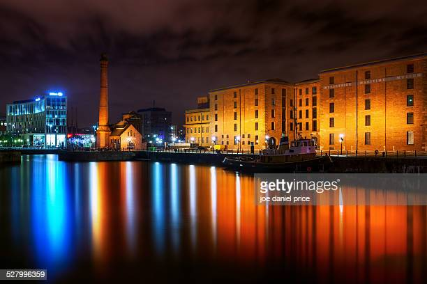 Lights at Albert Dock, Liverpool, England