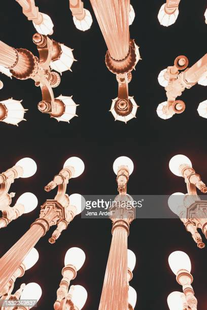 lacma lights at broad contemporary art museum - los angeles museum of contemporary art stock pictures, royalty-free photos & images