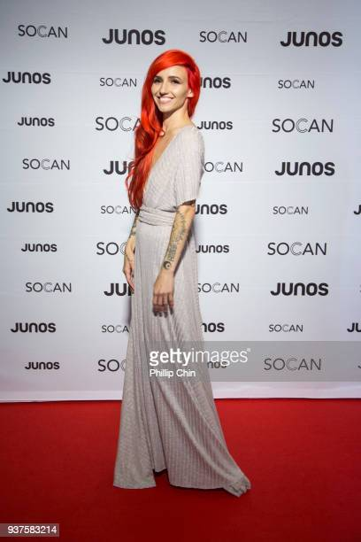Lights attends the red carpet at the Juno Gala Dinner and Awards at the Vancouver Convention Centre on March 24 2018 in Vancouver Canada