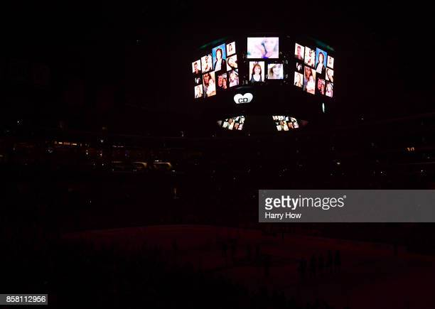 Lights go out with a moment of silence in honor of King's employee Christiana Duarte who was killed in the Las Vegas shooting days earlier during...