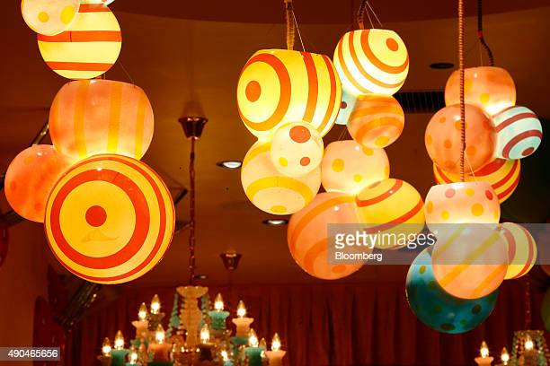 Lights hang from the ceiling at the Kawaii Monster Cafe operated by Diamond Dining Co in the Harajuku area of Tokyo Japan on Thursday Sept 24 2015...