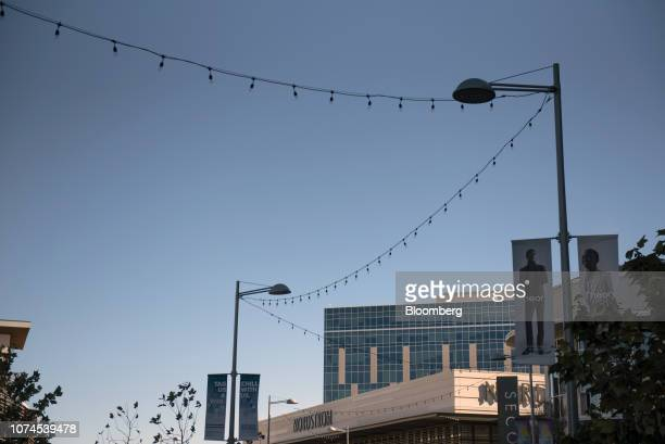 Lights hang outside a Nordstrom Inc store at the Domain shopping center in Austin Texas US on Thursday Dec 20 2018 Apple Inc announced this month...