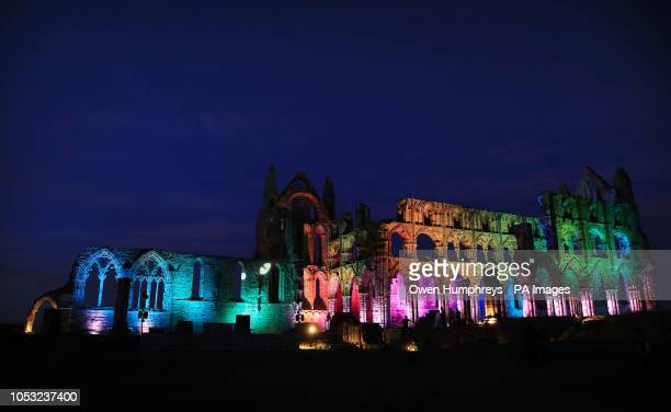 World S Best Whitby Abbey Illuminated In The Run Up To