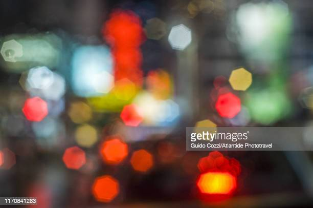 lights in a street of kowloon - image stock pictures, royalty-free photos & images