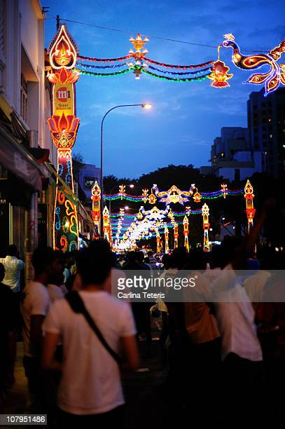 Lights in little india, singapore