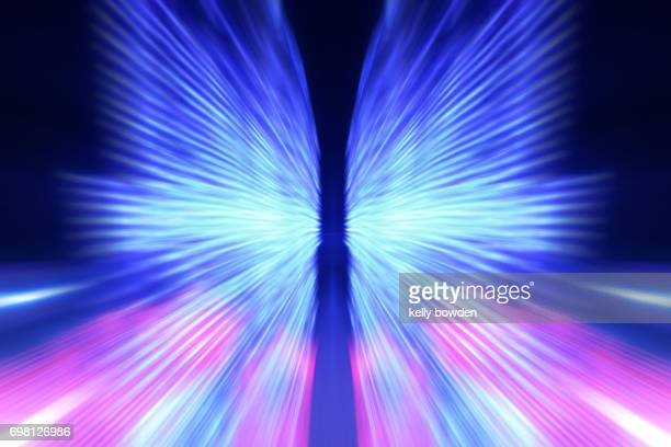 lights in motion background - abstract background stock photos and pictures