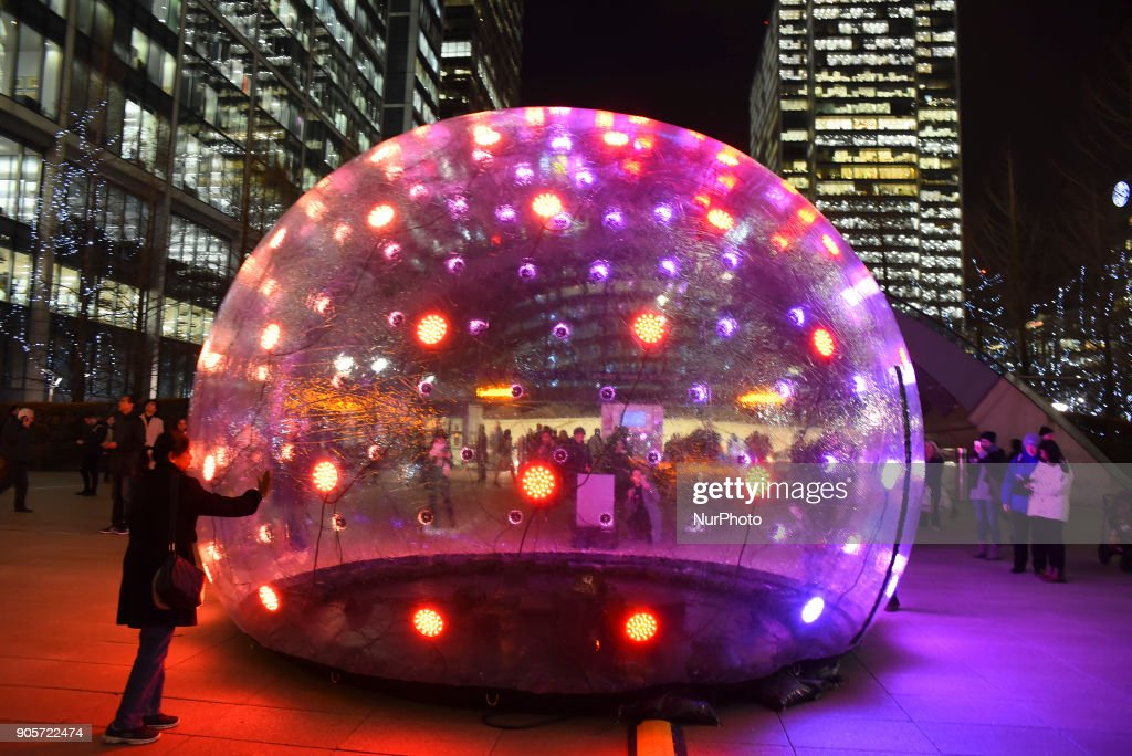 Winter Lights Festival At Canary Wharf