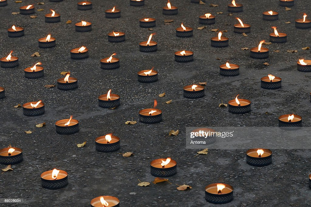 Lights of rememberance : Stock Photo
