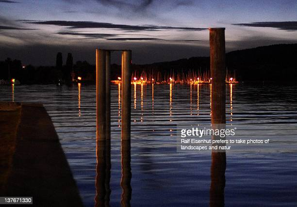 lights of sailingharbour - natur stock pictures, royalty-free photos & images
