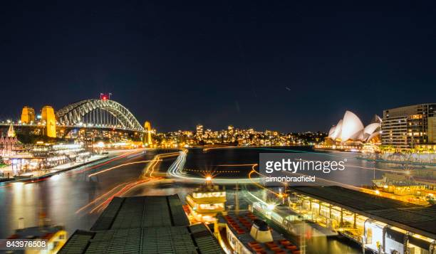 Lights Of Sydney's Circular Quay At Night