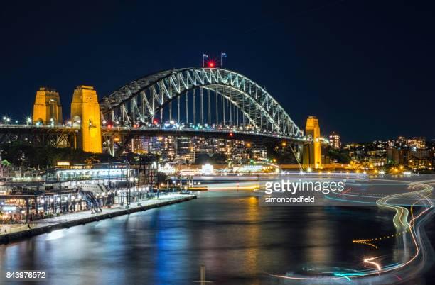 Lights Of Sydney's Circular Quay At Night