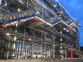 Lights on at the Centre Pompidou