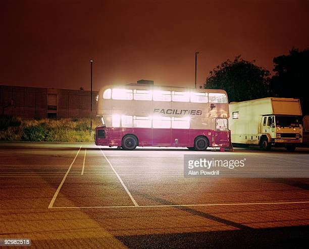 Lights on Bright Bus