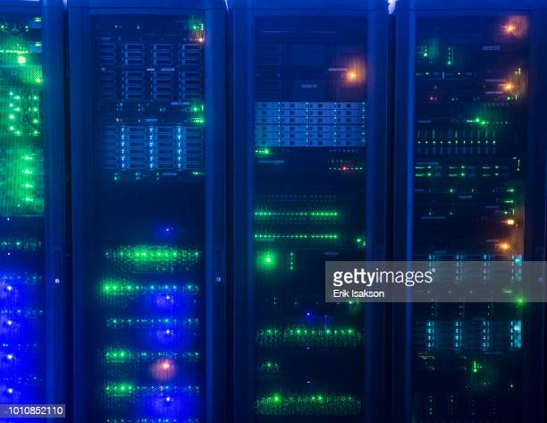 lights on network server - network server stock pictures, royalty-free photos & images