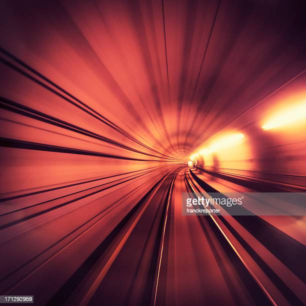 Lights on the tunnel - motion blur effects