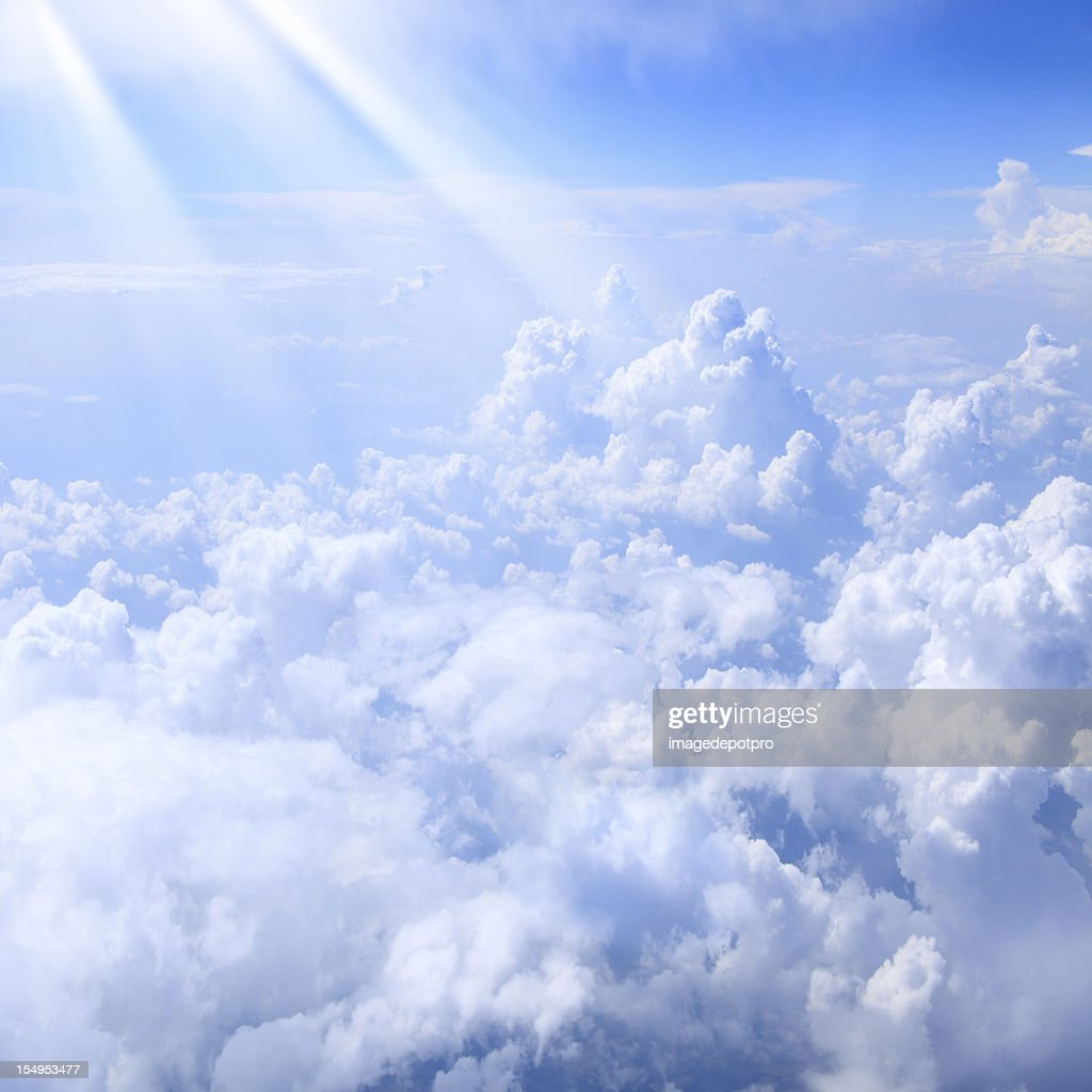 lights over clouds : Stock Photo