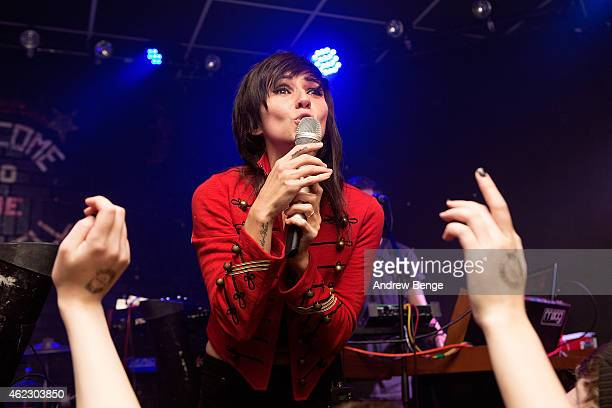Lights performs on stage at Brudenell Social Club on January 26 2015 in Leeds United Kingdom