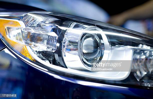 hid lights - headlight stock pictures, royalty-free photos & images