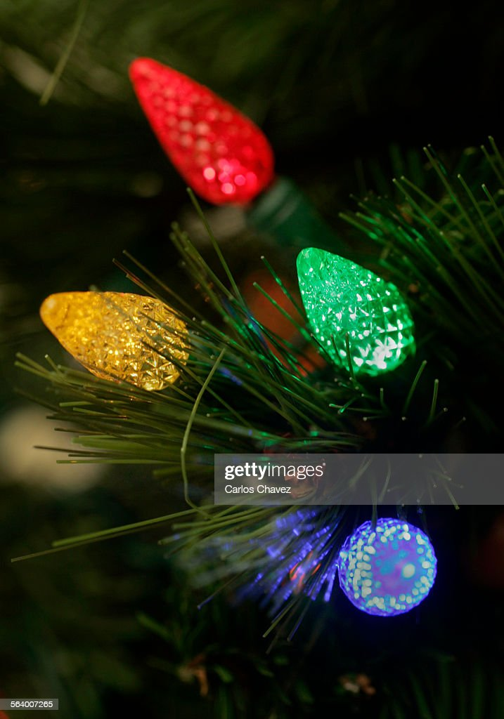 led light emitting diode lights used for christmas decorating conserve energy and are