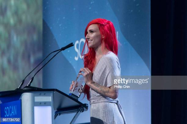 Lights wins Pop Album of the Year at the Juno Gala Dinner and Awards at the Vancouver Convention Centre on March 24 2018 in Vancouver Canada