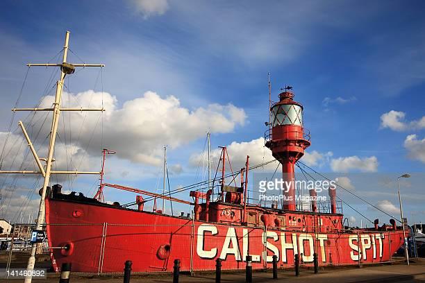 Lightship moored at Calshot Spit in Southampton Water taken on April 1 2010