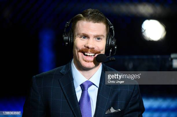 Lightweight and commentator Paul Felder smiles on camera during the UFC Fight Night at UFC APEX on November 28, 2020 in Las Vegas, Nevada.