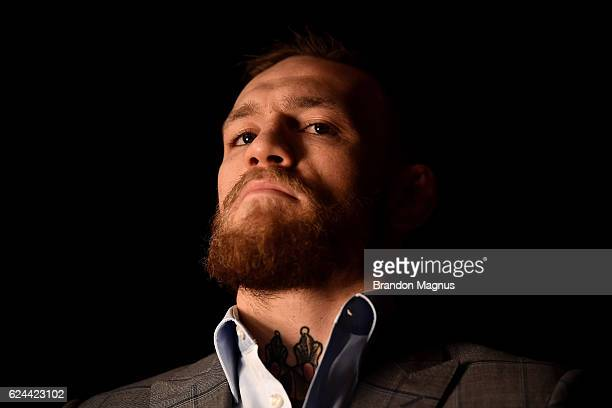 UFC lightweight and featherweight champion Conor McGregor attends the UFC Fight Night at the SSE Arena on November 19 2016 in Belfast Northern Ireland