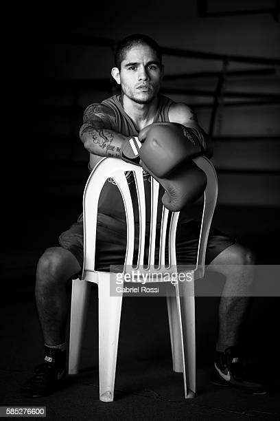 Lightweight boxer Ignacio Perrin of Argentina during a training session at CeNARD on July 16 2015 in Buenos Aires Argentina