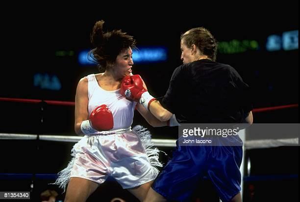 Lightweight Boxing Christy Martin in action vs Erica Schmidlin at The Spectrum Philadelphia PA