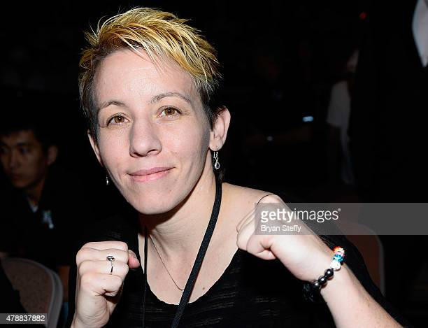 BKB lightweight champion Layla McCarter attends BKB 3 Big Knockout Boxing at the Mandalay Bay Events Center on June 27 2015 in Las Vegas Nevada