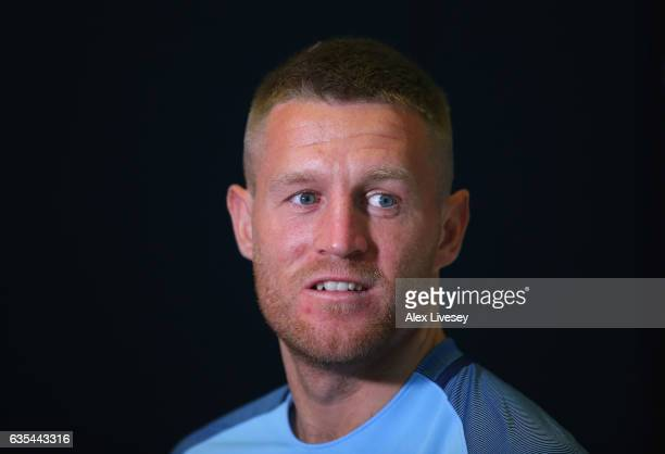 Lightweight Champion Terry Flanagan faces the media ahead of his fight against Petr Petrov during a boxing press conference at City Academy on...