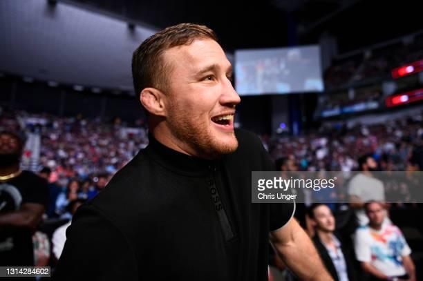 Lightweight contender Justin Gaethje attends the UFC 261 event at VyStar Veterans Memorial Arena on April 24, 2021 in Jacksonville, Florida.