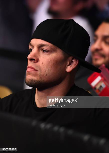 UFC lightweight Nate Diaz attends the UFC Fight Night event at Frank Erwin Center on February 18 2018 in Austin Texas