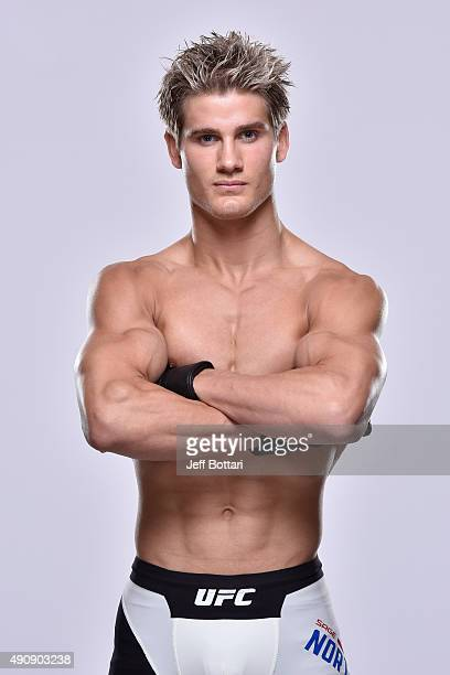 UFC lightweight Sage Northcutt poses for a portrait during a UFC photo session inside the Westin Houston on October 1 2015 in Houston Texas