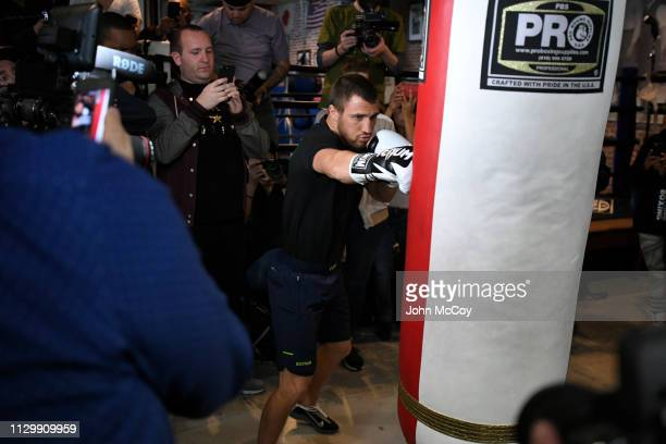 WBA lightweight world champion Vasiliy Lomachenko works out at Fortune Gym on March 11 2019 in Los Angeles California