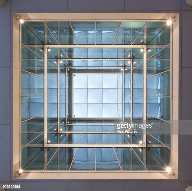 Lightwell with roof shading. Siemens Masdar, Abu Dhabi, United Arab Emirates. Architect: Sheppard Robson, 2014.