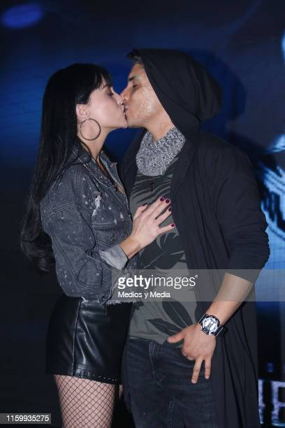 Ligia Uriarte and Alex Perea poses for photos during 'Sin Miedo a la Verdad' Presents Season 2 at Televisa San Angel on July 3 2019 in Mexico City...