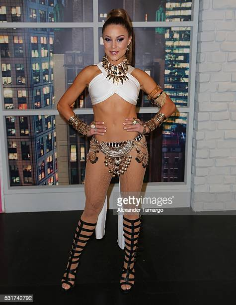 Ligia Uriarte is seen backstage during Nuestra Belleza Latina at Univision Studios on May 16 2016 in Miami Florida
