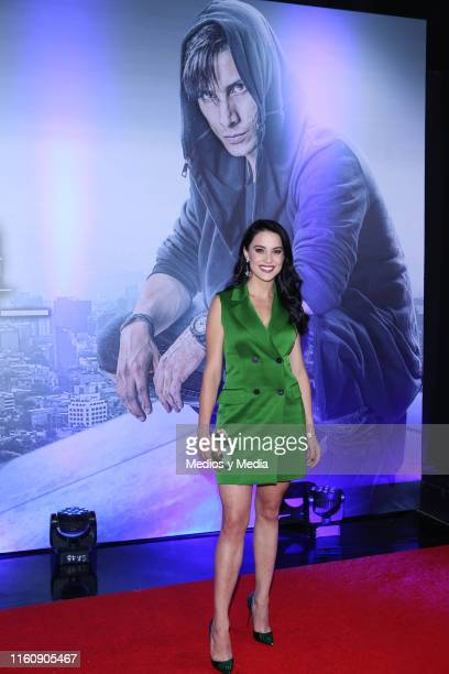 Ligia Uriarte poses for photos during 'Sin Miedo a la Verdad' Red Carpet at Televisa San Angel on July 8 2019 in Mexico City Mexico